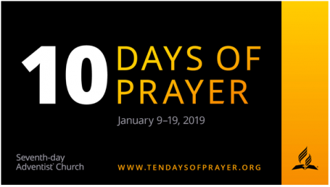 Please join us for 10 days of PRAYER.